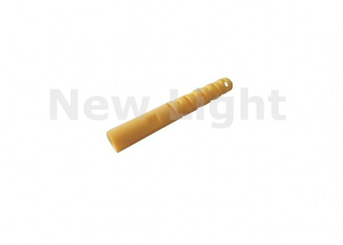 Yellow Color Fiber Optic Parts ST Tail Set 2.0 / 3.0 Mm Diameter For Fiber Patch Cord