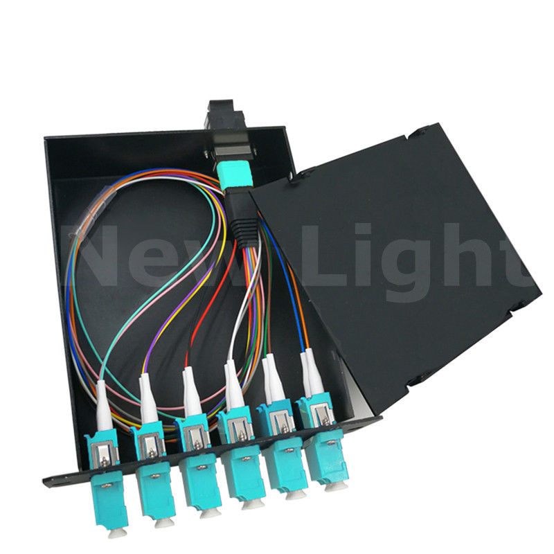 Male  -  LC 12 Cores MPO Cassette Module Fiber Optical Distribution Frame Multi Mode